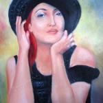 Kvinna i svart
